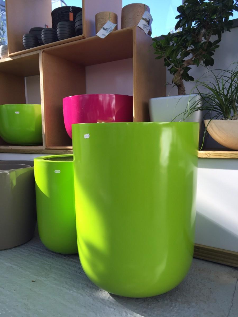 Green Fiberstone Container