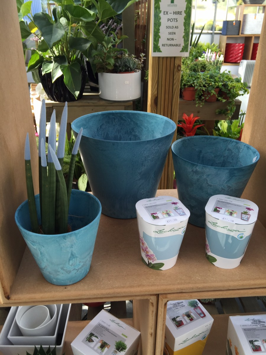 Blue Artstone Containers